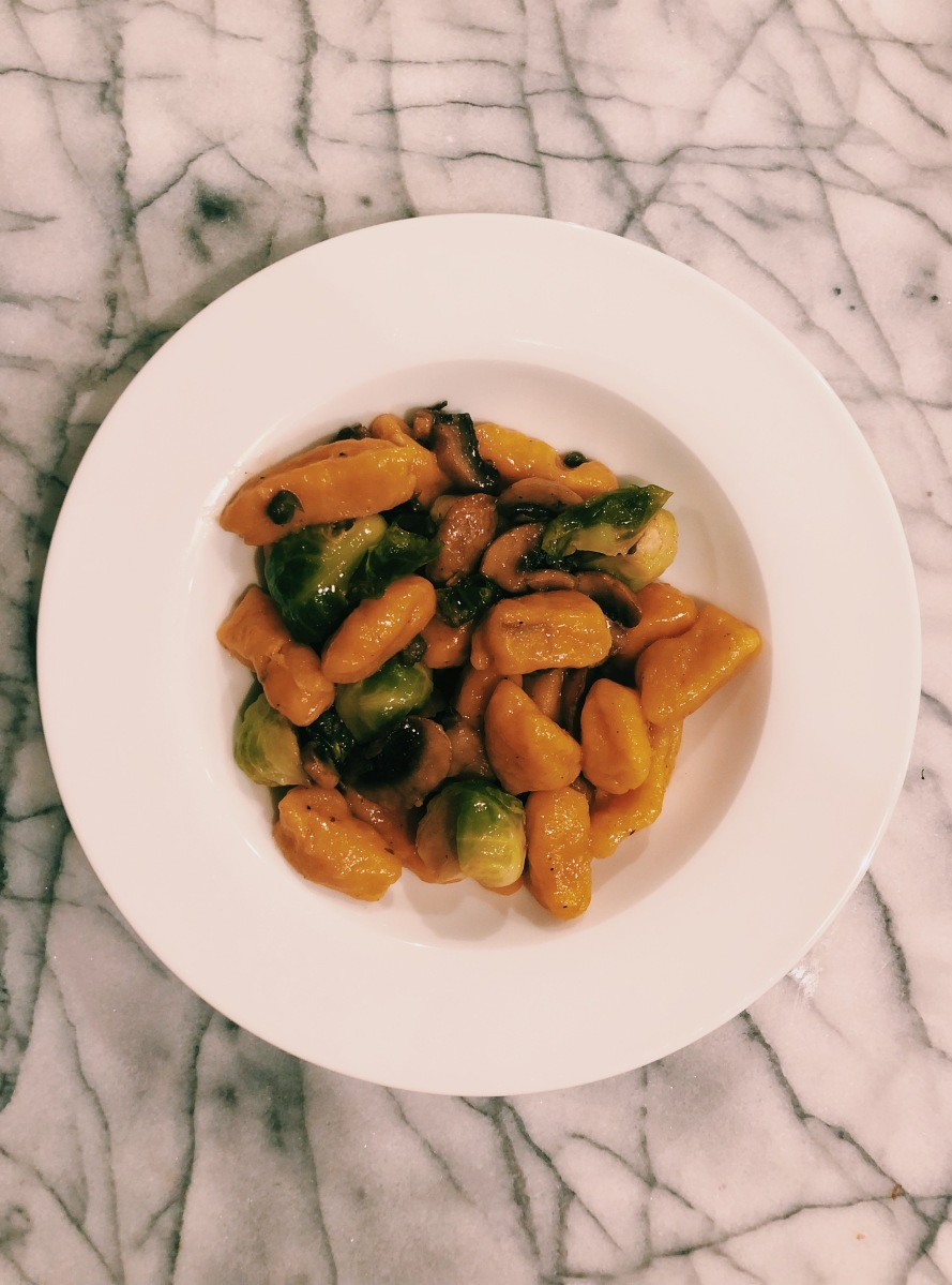 Sweet Potato Gnocchi With Caper Brown Butter Sauce And Roasted