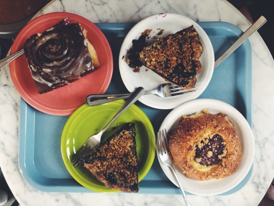 Sticky Bun, Blueberry Pie, and Strawberry Brioche from Tandem Bakery